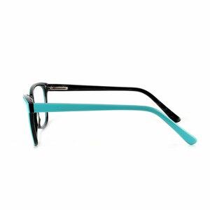 Image 3 - Высококачественная оправа для очков из ацетата, дизайнерская брендовая прозрачная оправа для очков при близорукости, оправа для очков в народном стиле