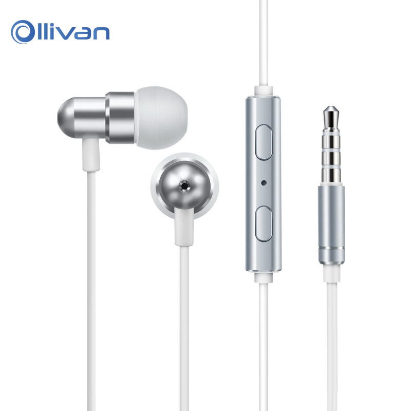 Ollivan 3.5mm In Ear Earphone Sports HIFI Headset Metal Stereo Bass Earphone with Microphone Earbuds for iPhone xiaomi Huawei mambaman me17 stereo earphones 3 5mm bass headset in ear portable earbuds with microphone for huawei xiaomi iphone 6 mp3 player