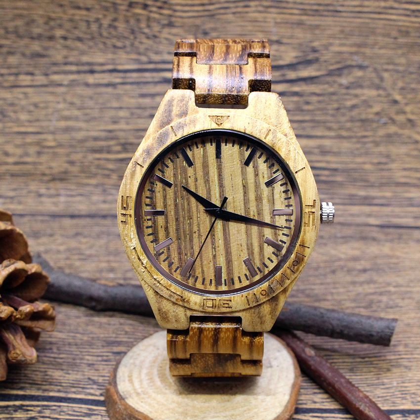 2018 Zebra grain Full Wooden Men Watches Bamboo Luxury Vintage Casual quartz watch Male Quartz Wristwatch Gift relogio masculino vintage wooden wristwatch full wood case analog classic zebra pattern band male female clock simple sport quartz watch relogio