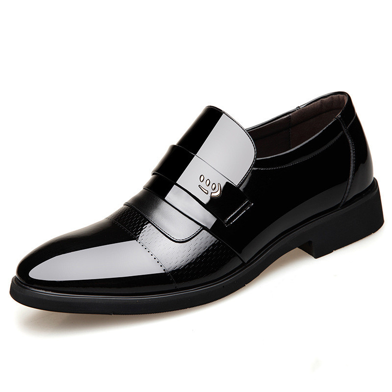 Men Dress Shoes Men Formal Flat Shoes Black Brown Breathable Slip On Men Business Office Shoes Plus Size 43 44