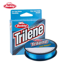 Berkley Trilene Cold Weather 110yd/100m Carp Ice Fishing Lines Electric Blue Soft Supple Low-memory Pesca Peche Tackles 2-10lb