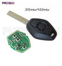 цена на  Car Key For BMW 3 5 Series Complete Remote Key HU92 Blade PCF7935AA Chip 433mhz 315mhz