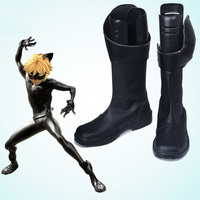 The Miraculous Ladybug Adrien Cat Noir Cosplay Boots Shoes Movie Party Cosplay Boots Custom Made for Women Shoes