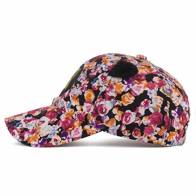 ada6cc5f4fd New Coming Lovely Women Owl Floral Printing Baseball Cap Snapback Sun Hat  Flat Hat mens baseball