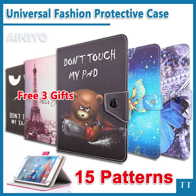 Universal case for Digma Plane 7004 3G 7 Inch Tablet PU cartoon Leather Protective Case Cover + free 3 gifts luxury pu leather cover case for tablet 7 inch universal cases protective skin android tablet pc pad 7 accessories m4d69d
