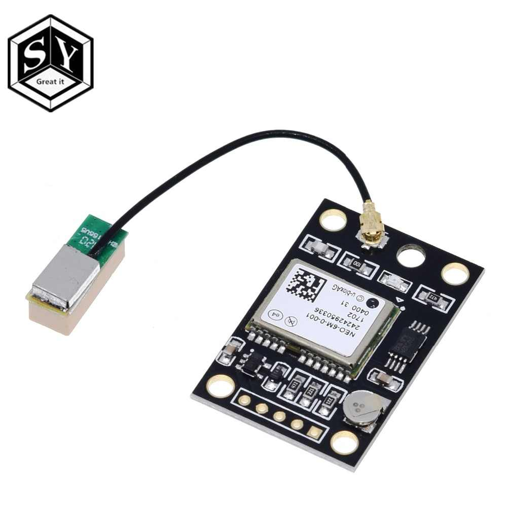 1PCS GY-NEO6MV2 NEO-6M GPS Module NEO6MV2 With Flight Control EEPROM Controller MWC APM2 APM2.5 Large Antenna For Arduino Board