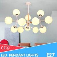 Green Eye Nordic pendant lights With Iron Lampshade For Living Room led bulb AC 110V 220V Modern Wooden Lustres hanglamp