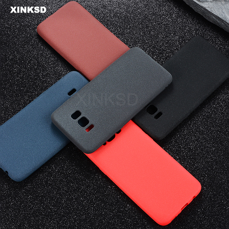Silicone Phone <font><b>Case</b></font> For <font><b>Samsung</b></font> Galaxy S8 S9 A8 2018 Plus J3 J5 J7 A3 A5 2017 S6 <font><b>S7</b></font> <font><b>Edge</b></font> Note 8 <font><b>Original</b></font> Matte Soft TPU <font><b>Case</b></font> image