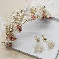 2017 mariée Coréenne Mori femelle Département de ciel étoiles, éternelle Fleur coiffe De Mariée, guirlande de mariage robe ornements en gros