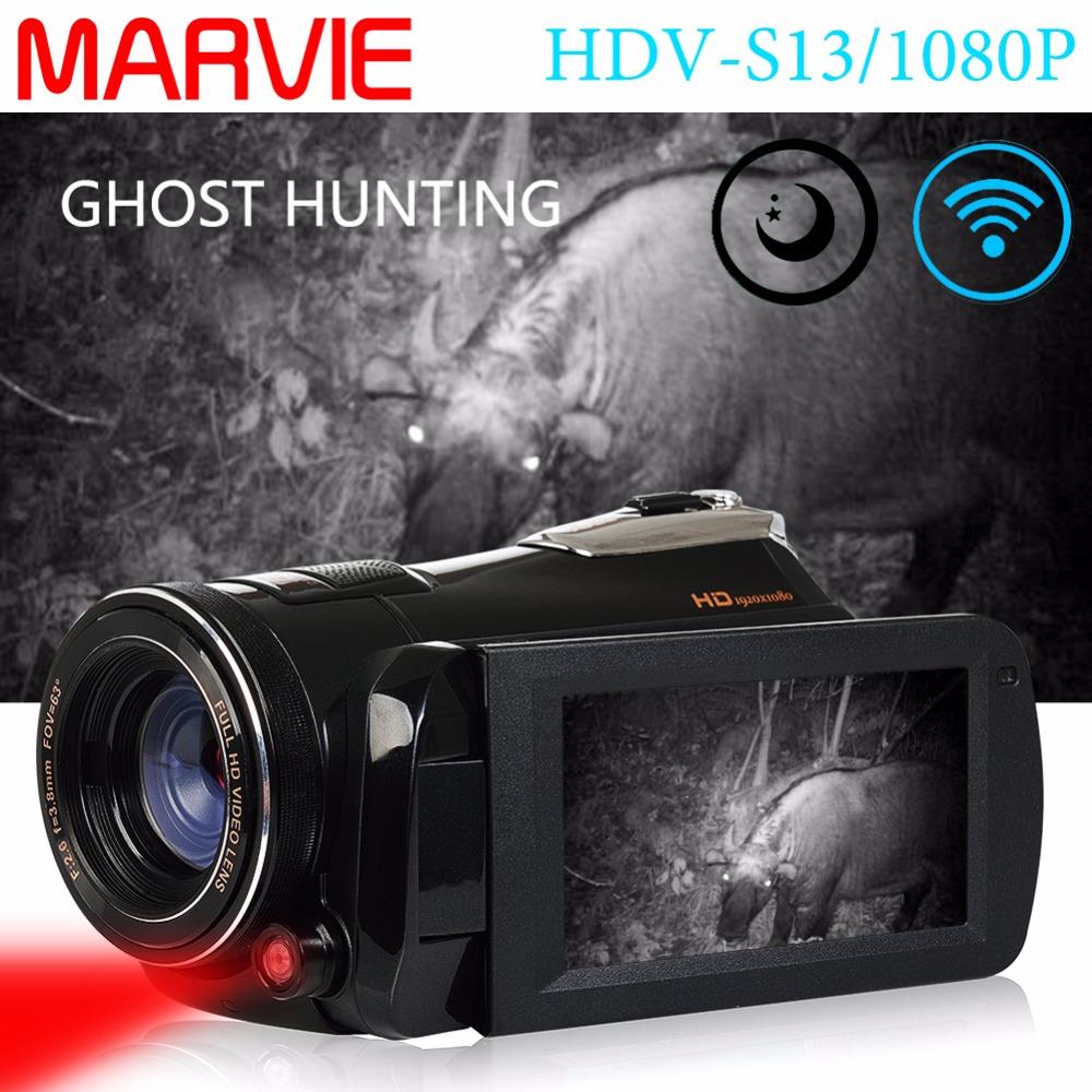 Marvie LED Fill Lights Portable 24.0 MP 3.0 Screen DV Camera FHD Camcorder Digital Video Recorder 16X Zoom IRNight Vision Cam 1