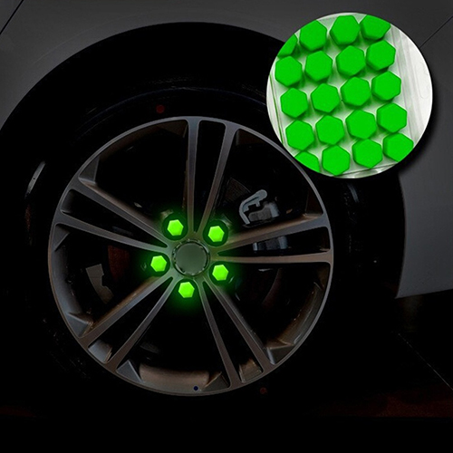 20 unids/bolsa 17mm cubiertas de tuercas de rueda 19mm 21mm tapas de perno del coche tuercas de rueda cubiertas de silicona práctico tapón de roscar protector del cubo