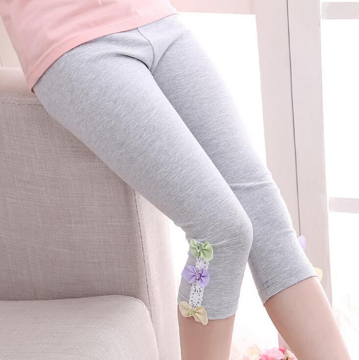 Kids Leggings For Girls Children Clothing Cotton Flower Pants Girls Skinny Trousers 3 4 5 6 7 8 9 11 12 Years Summer Dance Wear 2
