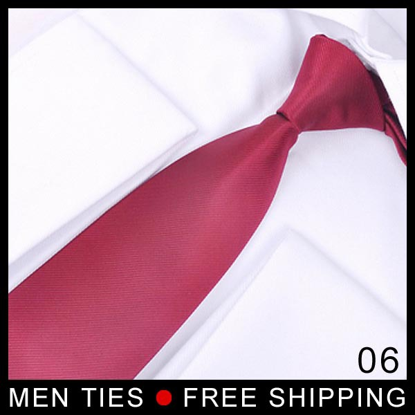 Dark Red Solid color Silk Wedding Men's Ties Business gifts for Men Festival Gifts Free shipping