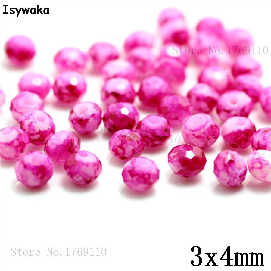 Isywaka 3X4mm 30,000 pièces Rondelle Autriche facettes En Verre Cristal Perles Lâche Entretoise Ronde Perles Fabrication De Bijoux N° 44