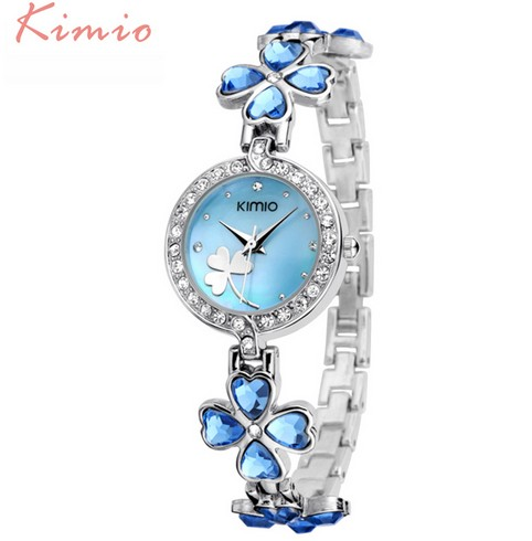KIMIO Brand Fashion Women Watches Classic Flower Ladies Bracelet Quartz Watch Relogio Feminino  Relojes Mujer for female Clock brand kimio reloj mujer fashion women pearl bracelet watches crystal dial quartz watch gold women watches relogio feminino clock