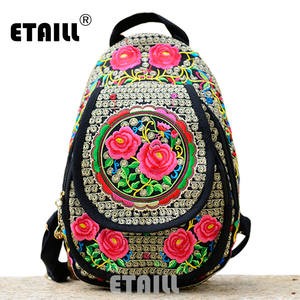 ETAILL Backpack Canvas Travel Rucksack Sac a Dos Femme 08d52faa945