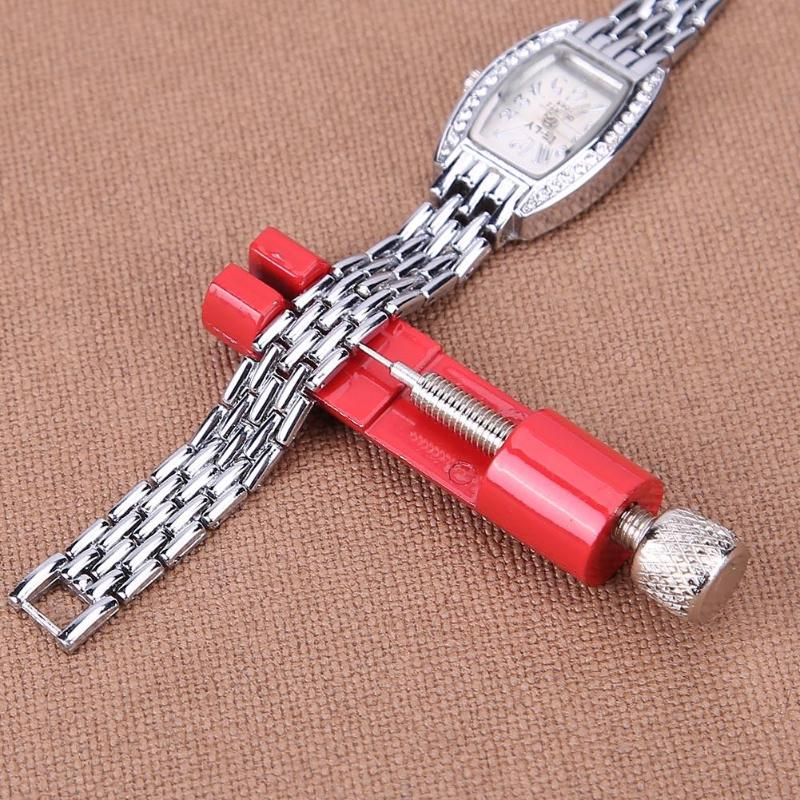 Adjustable Watch Band Remover Kit Metal Strap Bracelet Link Pin Repair Tool with Extra Pins цена и фото