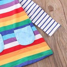 Rainbow Long Sleeve Dress