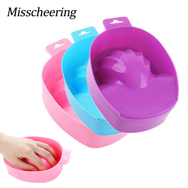 1st Nail Art Hand Wash Remover Soak Bowl DIY Salon Nail Spa Bath Behandling Manicure Tools