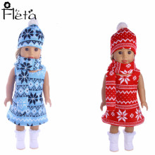 Fleta Doll 2018 New Design Doll Clothes Suit For 18-inch American Doll Or 43 Cm  Doll Christmas Party Dress baked doll christmas candy party dress