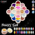 #51203 2016 New nail art CANNI  24 colors 10ml glitter effect color uv led soak off paint gel ink*6 pcs