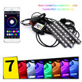16 Colors Sound Activated RGB Cell Phone App Control Car LED Interior Decoration lighting LEDs Decorative Atmosphere Lamp Charge