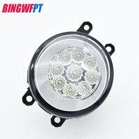2pcs 12V 9 LED Round Front Right Left Fog Light Lamp DRL Daytime Driving Running Lights