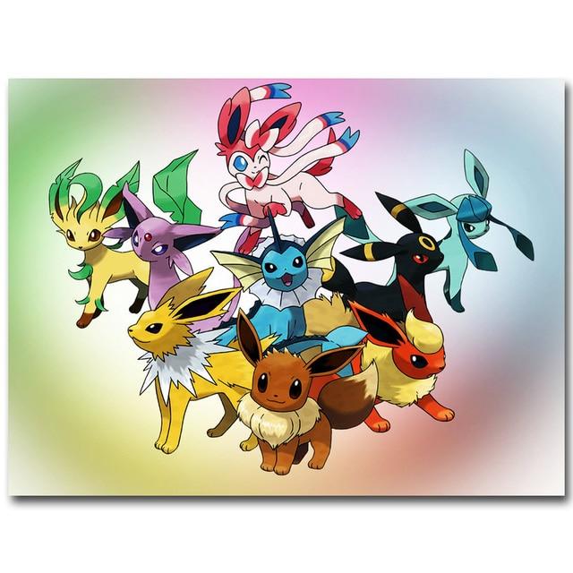 Eevee Pokemon Xy Art Silk Plakat Druck 13x18 20x27 Zoll Tasche