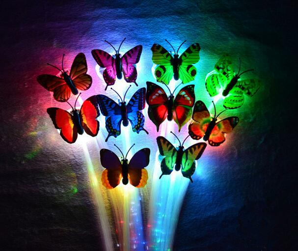 Led Flash Butterfly Fiber Braid Party Dance Lighted Up Glow