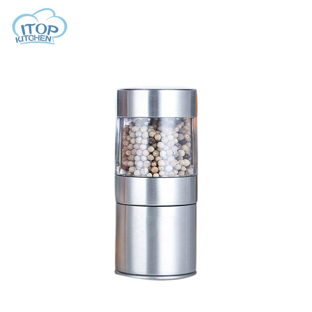 Stainless Steel Salt And Pepper Grinder Mill Shakers With Adjustable Ceramic Grinder Brushed kitchen assistant