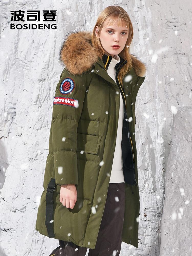 BOSIDENG 2018 new harsh winter duck   down     coat   long   down   parka women thicken outwear big fur collar waterproof B80142500DS