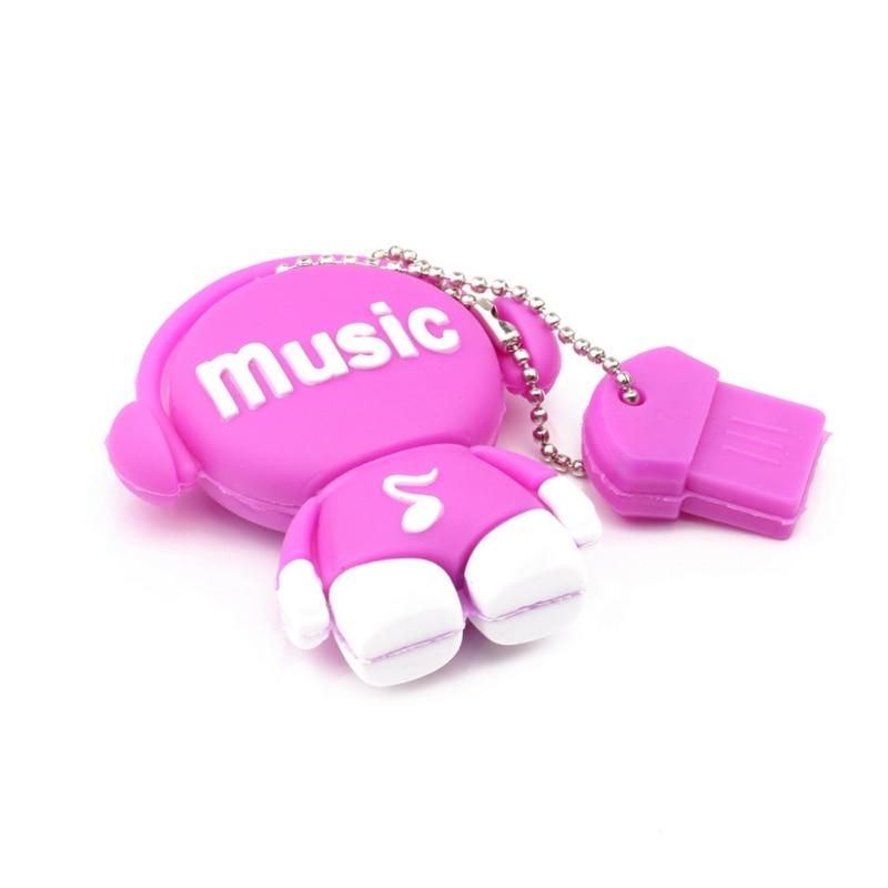 Музыкальные игрушки USB флеш-накопители 512 Мб 2 ГБ флеш-накопитель 8 ГБ реальная емкость USB память USB 2,0 карта памяти - Цвет: Розовый