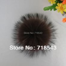 handmade raccoon fur ball 12-13cm pom poms key chain fur hat caps colours available gift for children accessory fur balls