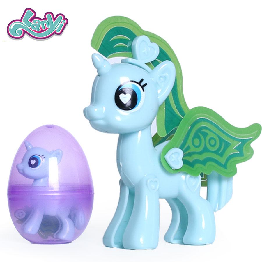 Aliexpress Com Buy My Little Horses Cute Diy Rainbow