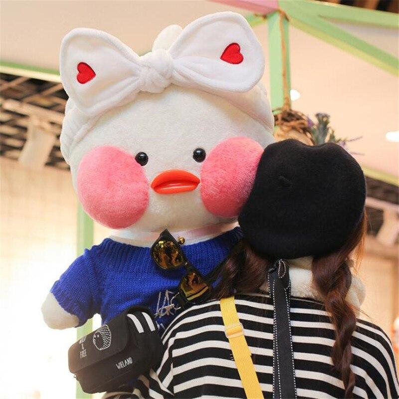 80cm Super Big Lalafanfan Plush Stuffed Toys Kawaii Cafe Mimi Duck Plush Toys Valentine s Day
