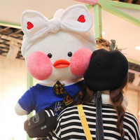 80cm Super Big Lalafanfan Plush Stuffed Toys Kawaii Cafe Mimi Duck Plush Toys Valentine's Day Gifts Decoration Toys for Girls
