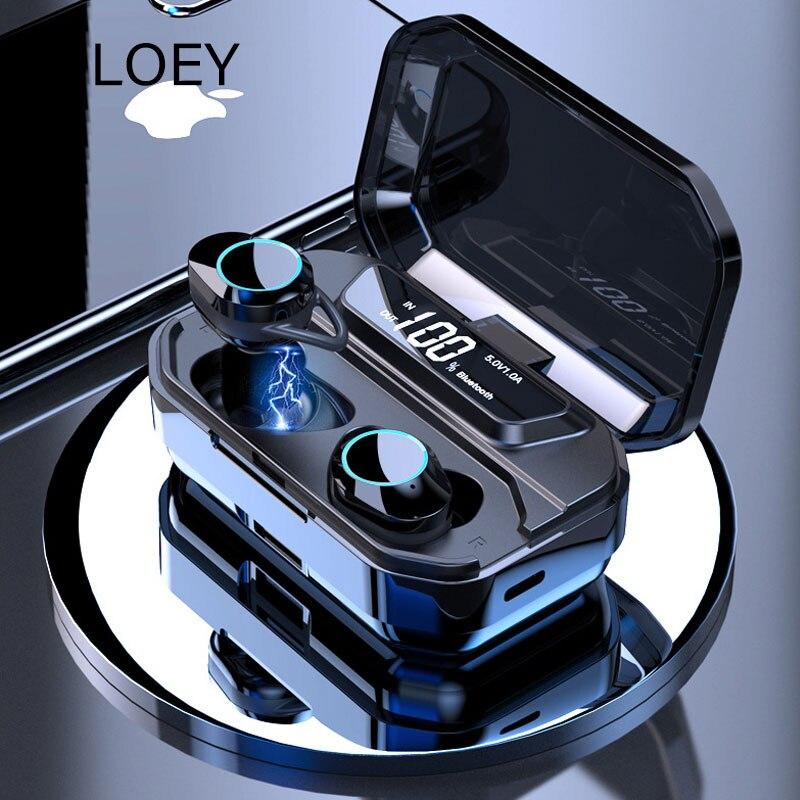 Affichage numérique haut de gamme 5.0 écouteurs Bluetooth écouteurs sans fil IPX7 casque stéréo étanche