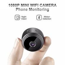 Mini camera WiFi 1080P, une A9 pour la sécurité à domicile avec télécommande, lecture vidéo, détection de mouvement et Vision nocturne
