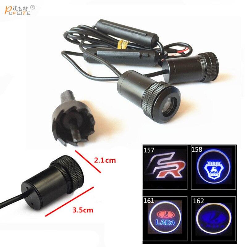 2/PCS coche láser proyector logo Ghost Shadow Light universal para Lada priora Granta Kalina Niva largus para Gaz samara