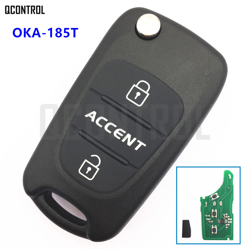 QCONTROL Remote Key 433MHz ID46 Chip for HYUNDAI Accent OKA-185T CE0682 Vehicle Keyless Entry Transmitter image
