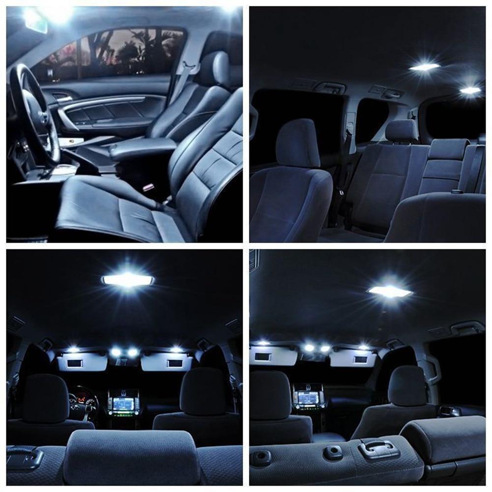 19Pcs Set White LED Lights Interior Package Kit For 2007