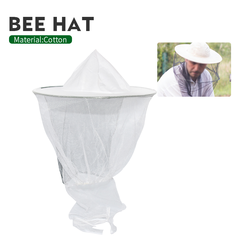 Beekeeping  Hat Mosquito Bee Insect Net Veil Hat Face Head Neck Wrap Protector Beekeeping Tools