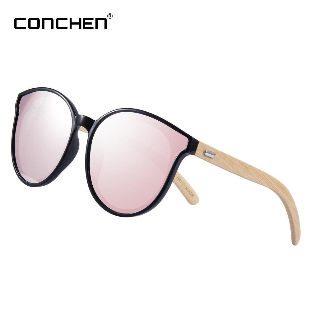 CONCHEN di Bambù Rosa Occhiali Da Sole Per Le Donne 2018 di Alta Qualità In Legno Occhiali Da Sole elegante Del Progettista di Marca