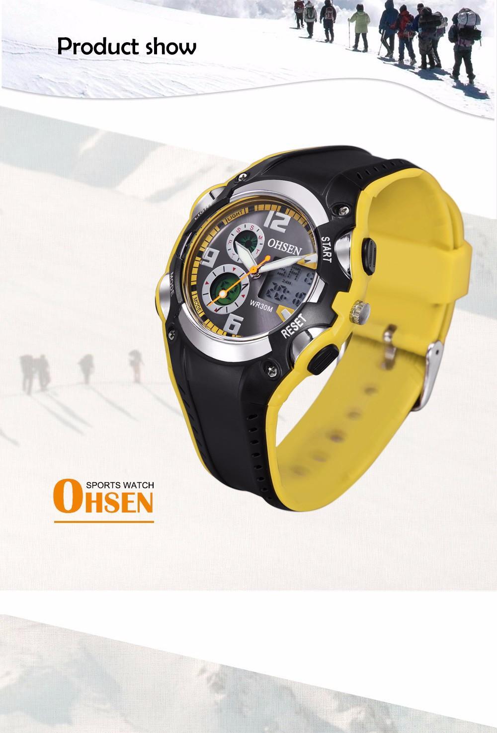 Original Ohsen Brand Fashion Sports Men's Watches 30M Waterproof Rubber Black Rubber Band Digital Sport Wristwatch for Men Gift (17)