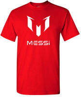 Messi Red T Shirt Lionel Leo Soccering Footballerer Euro All Sizes S 2XL 100 Cotton Short
