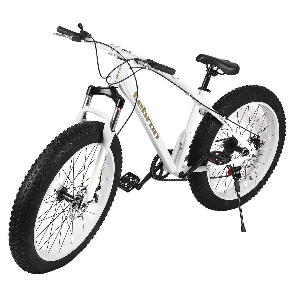 26*21 Inch 7 Speed Snow Bike Double Disc Braking System Bicycle Steel Frame Mountain Bike Outdoor Sports Exercise Bike russia only 26 inch 7 21 24 2 speed folding fat bike double disc brakes mountain bike big tire snow bike for man and women