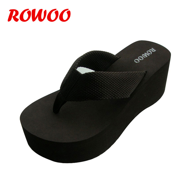 8155b96ef27b81 Fashion Ladies Summer Flip Flops 3 Inch Platform Wide Sole EVA Summer Bride  Sexy Sandals Women Shoes Flip Flops Female Slippers