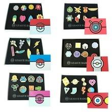 8 Unids/set Broche Insignia Mini Pokemon Pokemon cosplay Anime Colección decoración Joyería Regalos de Navidad Para Niños