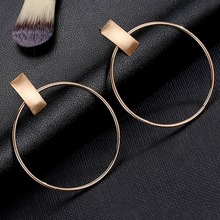 Imixlot OL Style Big Round Circle Hoop Earrings Metal Geometric Earing Brincos Fashion Jewelry For Women