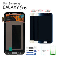 Super AMOLED S6 LCD For Samsung GALAXY S6 G920 G920F G920FD G920FQ LCD Display Touch Screen Digitizer Assembly with small burns